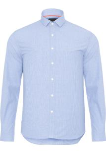 Camisa Masculina Fio A Fio - Azul