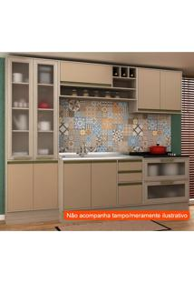 Cozinha Compacta Safira Ii 9 Pt 5 Gv Capuccino E Creme