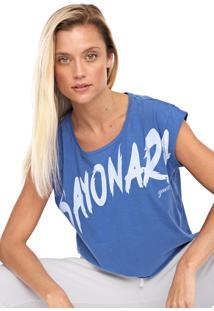 Camiseta Cropped Guess Sayonara Azul