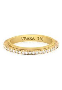 Aliança De Casamento Ouro Amarelo E Diamantes (2.8Mm)