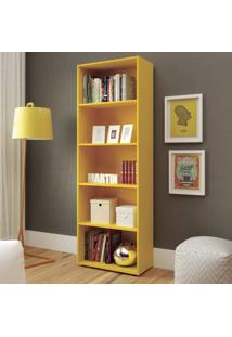 Estante Para Livros 5 Prateleiras Multy Artely Amarelo