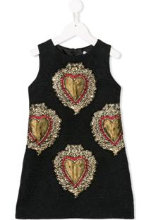 Dolce   Gabbana Kids Vestido Com Aplicação - Preto 4c63ae8704