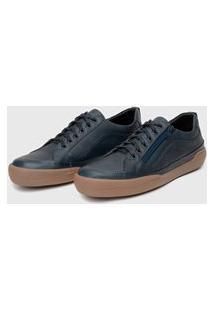 Sapato Em Couro Hayabusa Z 10 - Marinho Solado Âmbar