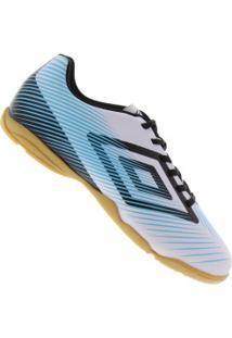0d744fd86e17e Chuteira Futsal Umbro Speed Ii - Adulto - Branco Azul Cla