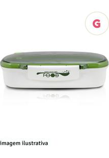 Kit Pote 850Ml Com Colher Jacki Design Verde E Branco