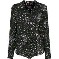 d842b5e8e Boutique Moschino Body Com Estampa De Estrelas De Seda - Preto
