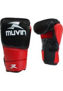 Luva De Boxe Muvin Warrior Bx Lvb100 Preto E Vermelho