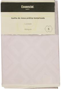Toalha De Mesa Retangular Em Pvc Prática Losangos 1,40X2,10 Metros