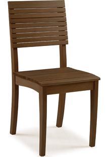 Cadeira De Madeira Para Mesa De Jantar Popi - Verniz Capuccino - 42X46X91 Cm
