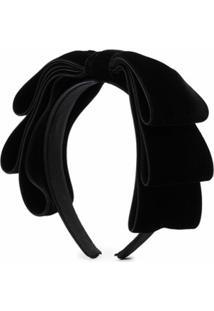 Jennifer Behr Headband Kayta Com Laço - Preto