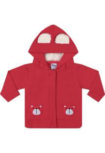 Jaqueta Time Kids Inverno Bear Vermelho