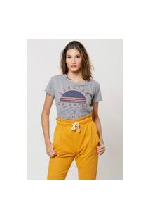 Camiseta Jay Jay Básica Dancing On Waves Cinza Mescla
