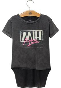 Camiseta John John Kids Mih Malha Cinza Feminina (Cinza Medio, 10)