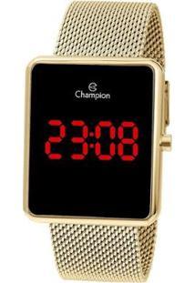 Relógio Champion Digital Led - Feminino-Dourado