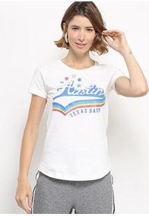 Camiseta Hapuna Baby Look Taxas Baby Feminina - Feminino-Off White