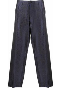 Nicholas Daley Calça Pantalona Com Pregas - Azul