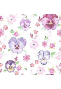 Papel De Parede Adesivo Flores Delicadas (0,58M X 2,50M)