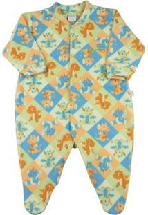 Macacão Pijama Infantil Ano Zero Estampado - Masculino