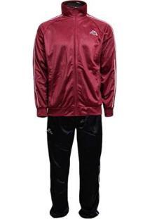 Agasalho Kappa Sportswear Farnese Helanca Masculino - Masculino-Vermelho Escuro