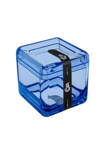 Porta-Algodão/Cotonete Cube 8,5 X 8,5 X 8,5 Cm Azul Coza