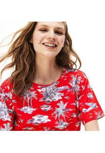 Camiseta Lacoste Masculino - Feminino-Vermelho