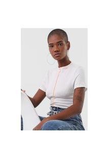 Camiseta Ellus Jersey Canelada Off-White