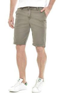 Bermuda Get Fashion Dialogo Jeans Slim Color Masculina - Masculino-Verde