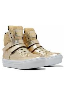 Sneaker K3 Fitness Smooth Dourado