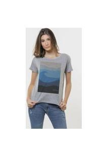 Camiseta Jay Jay Basica Ocean Preserve Cinza Mescla Dtg