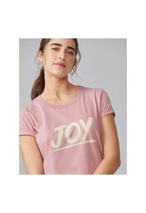 Amaro Feminino T-Shirt Joy, Rosa