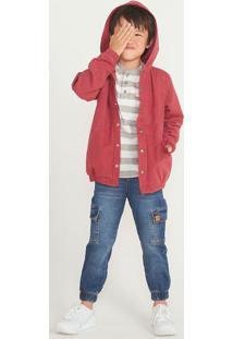 Calça Menino Jogger Moletom Jeans