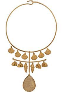 Aurelie Bidermann Colar Panama Com Quartzo - Dourado