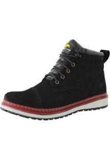 Bota Casual Bell Boots Couro Masculina - Masculino-Preto