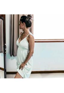 Camisola Maternidade Cor: Verde Bebê Tam: G - Ct17-X Dica De Lingerie