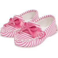 081b094659 Dafiti. Mocassim Tricae Infantil Striped Rosa Branco
