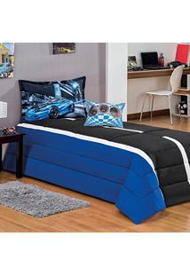 3e049f8e76 Kit Edredom Tuning Solteiro 04 Peças - Azul