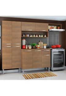 Cozinha CompletaEmilly Rustic Com Armário E Balcão Madesa