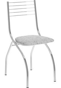 Kit 2 Cadeiras 146 Tecil Fantasia Móveis Carraro Branco