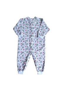 Pijama Macacão Moletinho Infantil Crisbel Dinossauros
