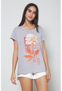Camiseta Oh,Boy! Nascente Feminina - Feminino-Cinza