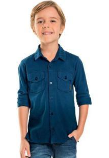 Camisa Infantil Degradê Azul