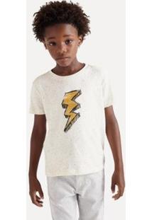 Camiseta Infantil Reserva Mini Sm Silk Raio Inv20 Masculina - Masculino-Off White