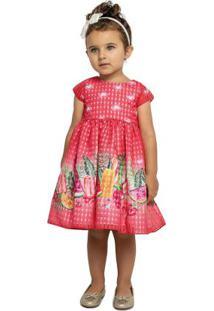 Vestido Marisol Vermelho Menina