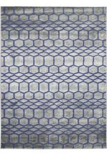 Tapete Ric- Cinza & Azul- 195X150Cm- Tapete São Tapete São Carlos