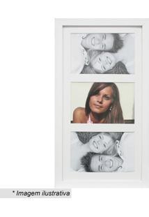Painel Insta Para 3 Fotos- Branco- 38X21X1,5Cm- Kapos