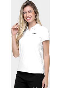 Camisa Polo Nike Court Feminina - Feminino-Branco+Preto