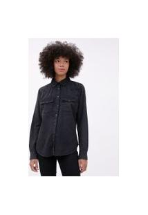 Camisa Jeans Básica Preto | Blue Steel | Preto | P