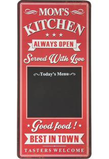 Quadro Negro Decorativo Mom'S Kitchen