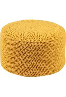 Puff Pastilha Crochê Amarelo