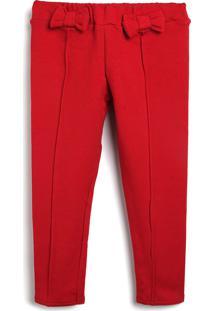 Calça Colorittá Infantil Laço Vermelha